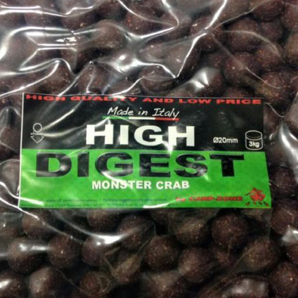 CARP ZONE HIGH DIGEST MONSTER CRAB 20 MM 3 KG EL CARPODROMO