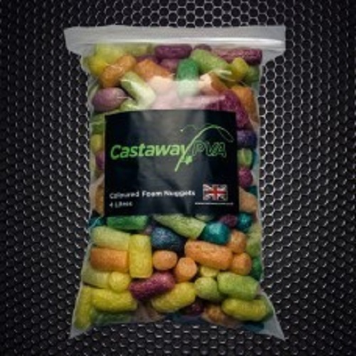 CASTAWAY PVA COLOURED FOAM NUGGETS 4L EL CARPODROMO