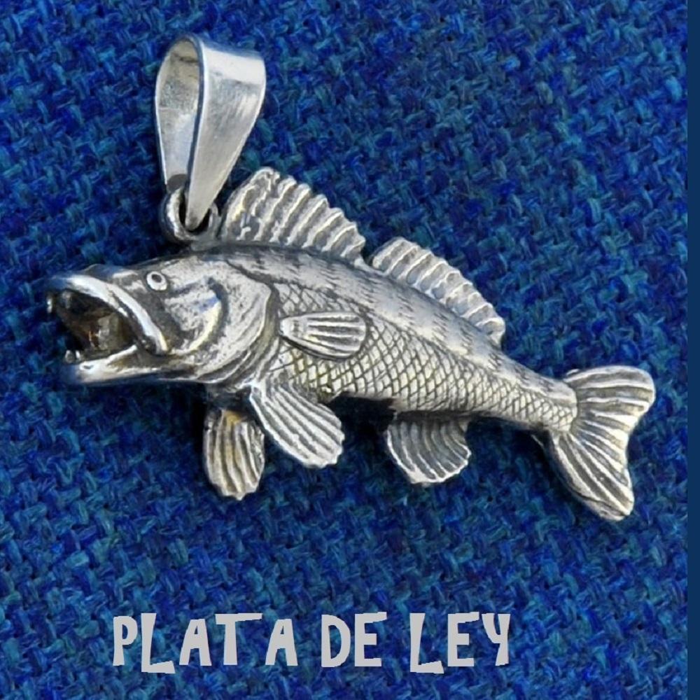 COLGANTE LUCIO PERCA PLATA DE LEY EL CARPODROMO