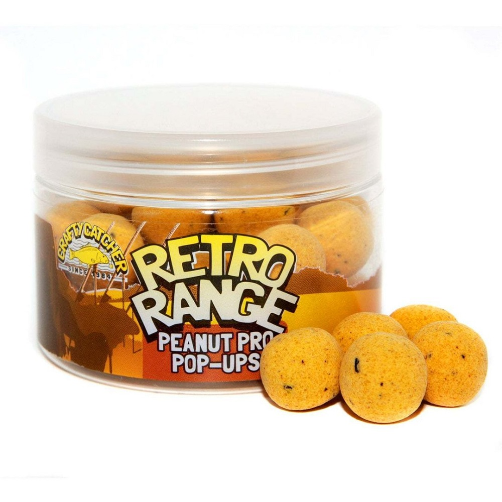 CRAFTY CATCHER POP UPS RETRO RANGE PEANUT PRO 15MM 150G EL CARPODROMO