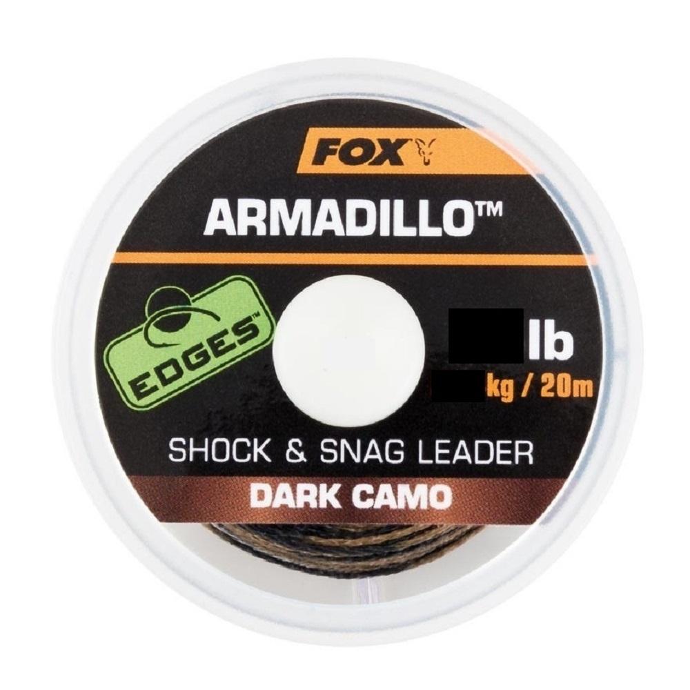 FOX EDGES ARMADILLO SHOCK SNAG LEADER DARK CAMO 65 LB EL CARPODROMO