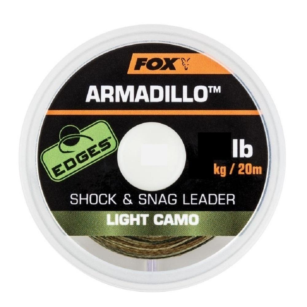 FOX EDGES ARMADILLO SHOCK SNAG LEADER LIGHT CAMO 30 LB EL CARPODROMO