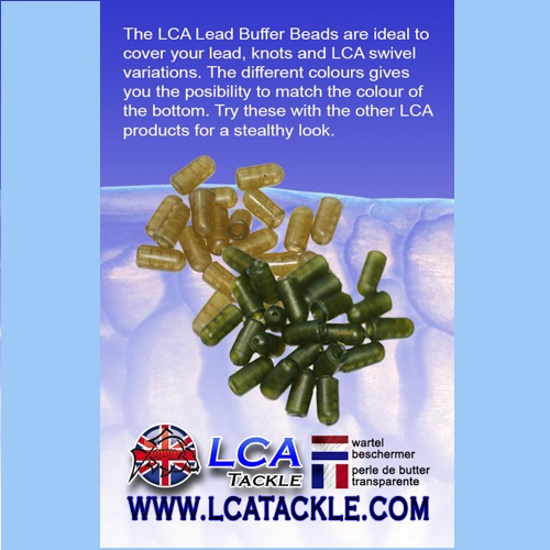 LCA TACKLE BUFFER BEAD GREEN 20 UNIDADES EL CARPODROMO