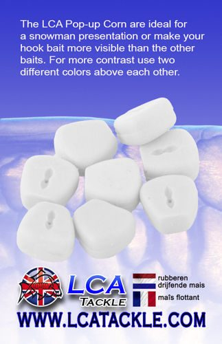 LCA TACKLE POP UP FAKE MAIZE WHITE FLUORESCENTE