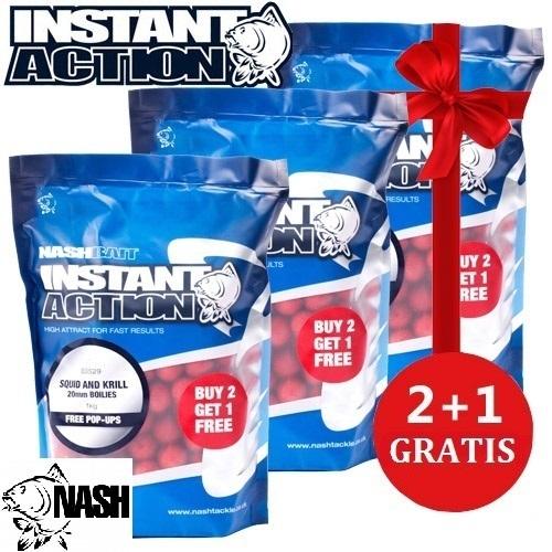 NASH INSTANT ACTION SQUID KRILL 3X2 20 MM EL CARPODROMO