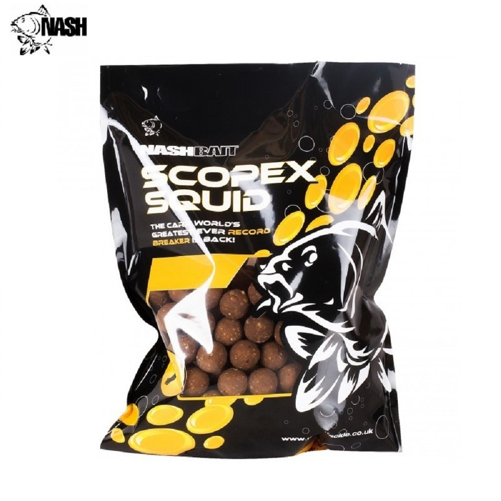 NASH SCOPEX SQUID BOILIES 15 MM 1 KG EL CARPODROMO