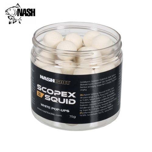 NASH SCOPEX SQUID POP UPS WHITE 15mm