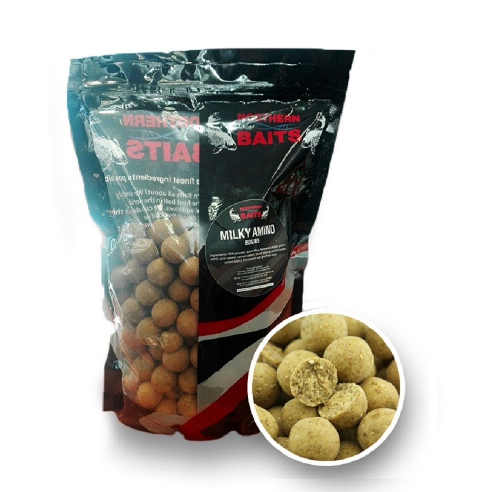 NORTHERN BAITS BOILIES MILKY AMINO 20 MM EL CARPODROMO