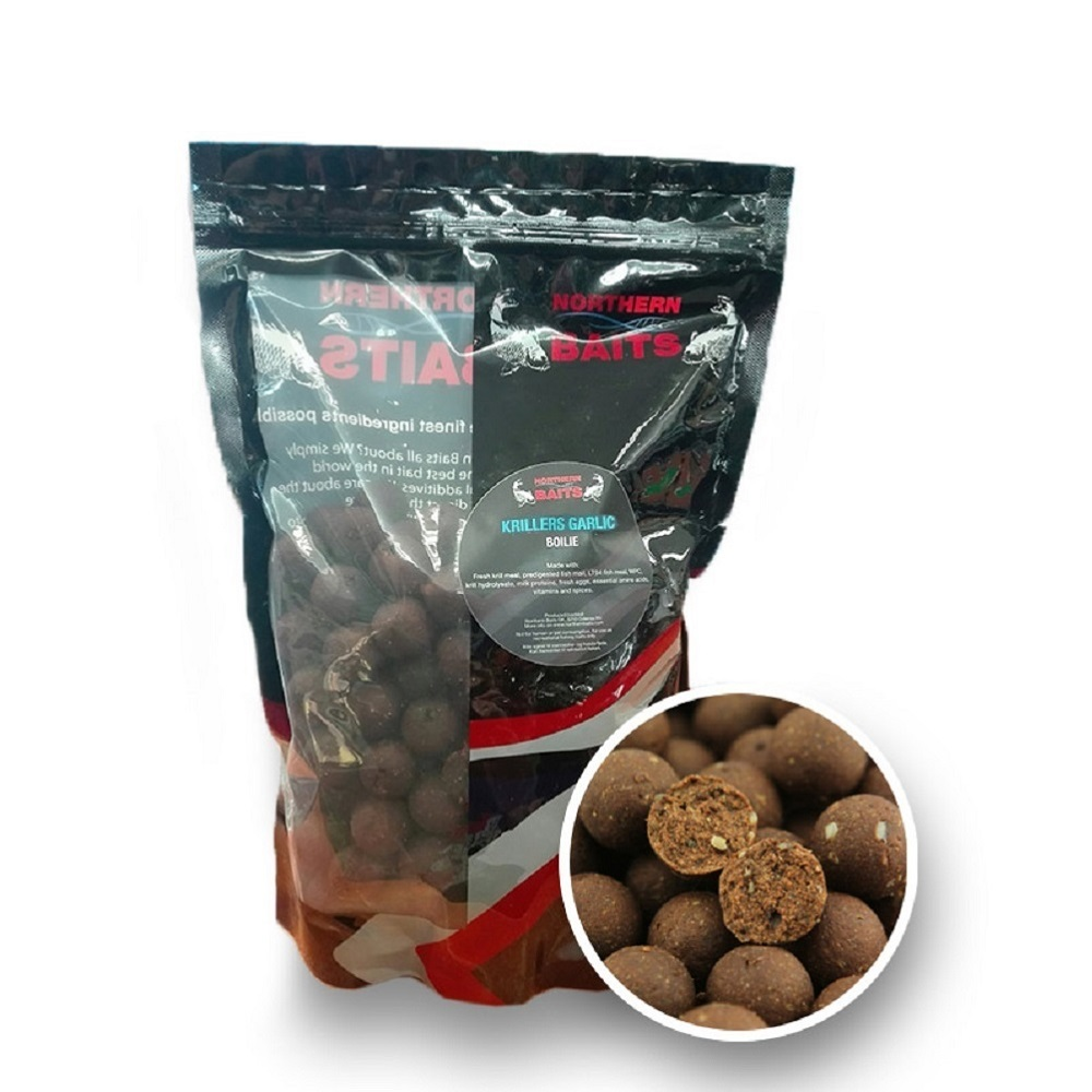 NORTHERN BAITS KRILLERS GARLIC BOILIES 20 MM EL CARPODROMO