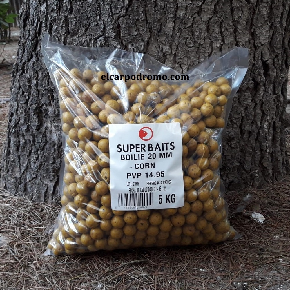 SUPER BAITS BOILIES CORN 5 KG 20 MM EL CARPODROMO