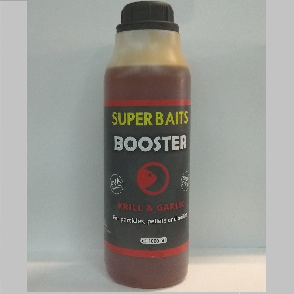 SUPER BAITS BOOSTER KRILL GARLIC 1 L EL CARPODROMO