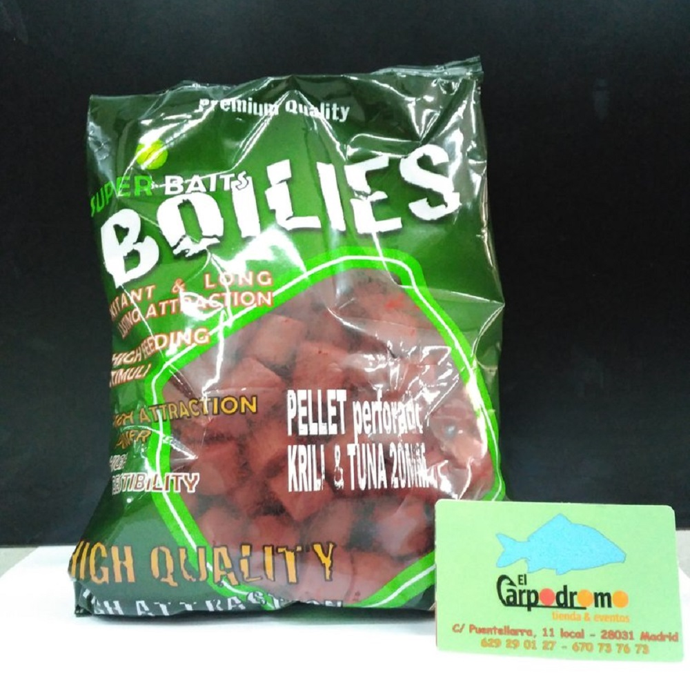 SUPER BAITS PELLETS KRILL TUNA 20 MM EL CARPODROMO