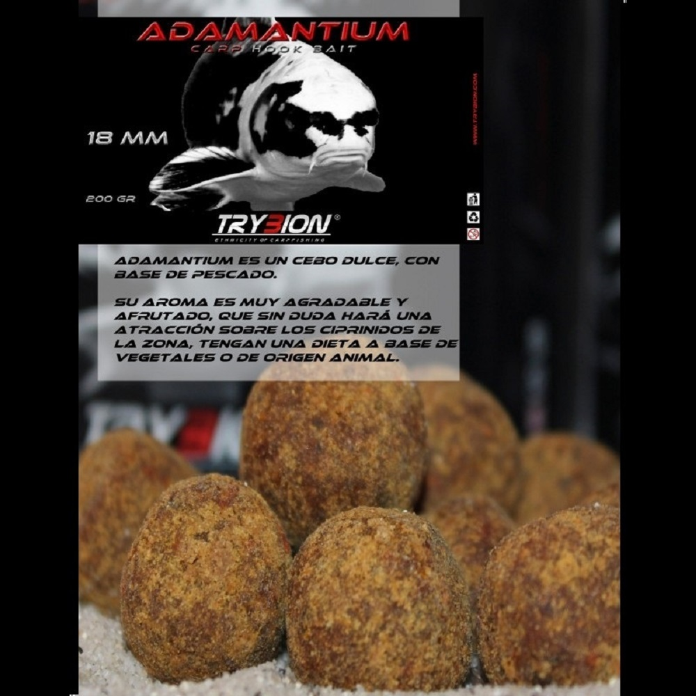 TRYBION HOOKBAITS ADAMANTIUM 18 MM 200 G EL CARPODROMO