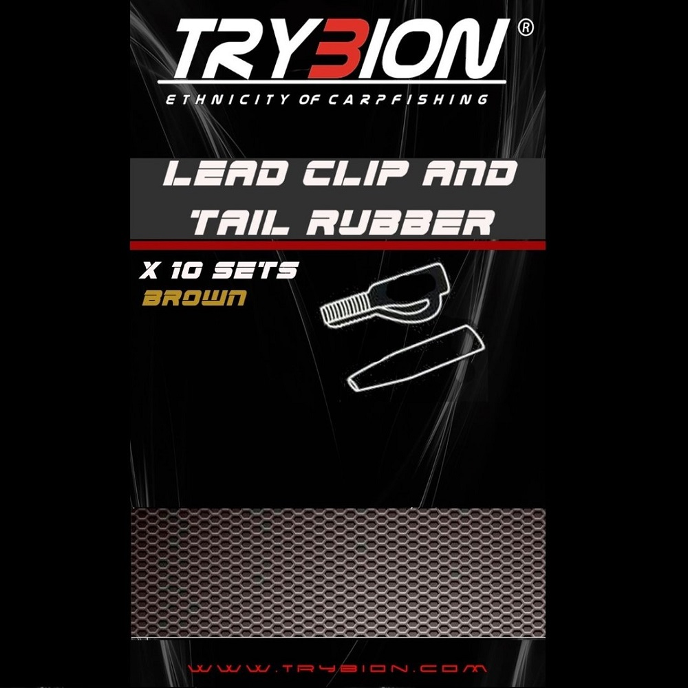 TRYBION LEAD CLIP AND TAIL RUBBER BROWN EL CARPODROMO