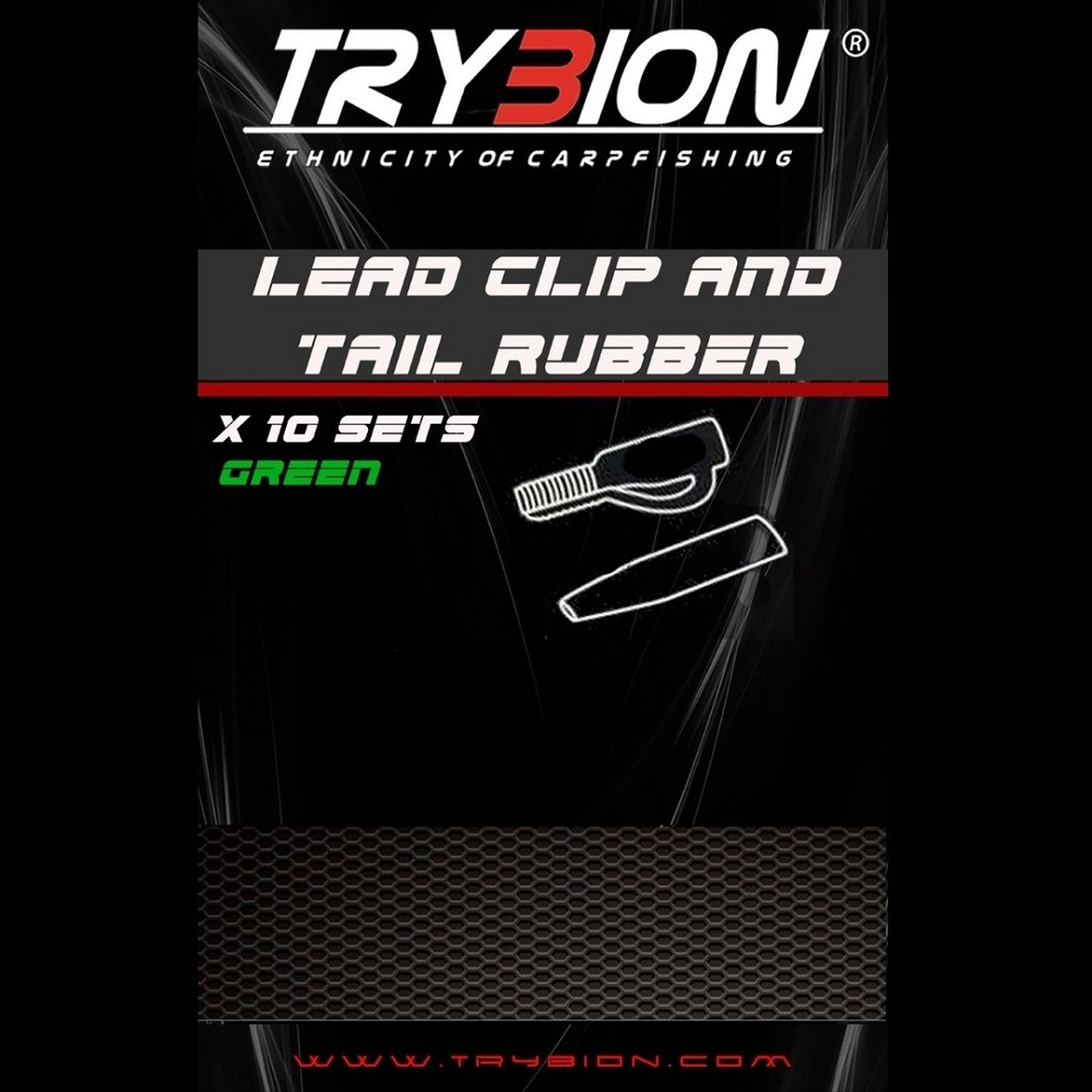 TRYBION LEAD CLIP AND TAIL RUBBER GREEN EL CARPODROMO