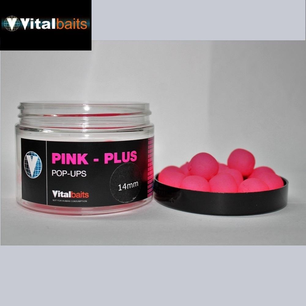 VITALBAITS PINK PLUS POP UPS 14MM el carpodromo