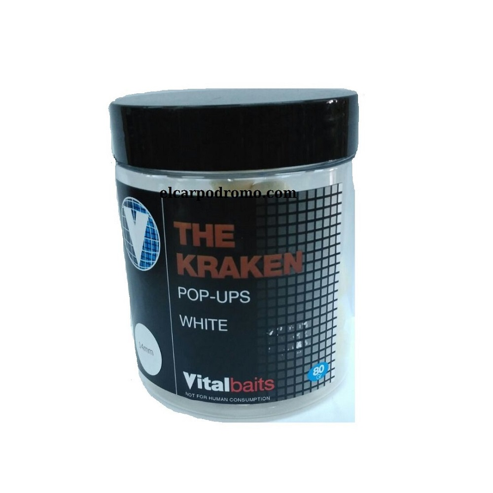 VITALBAITS POP UPS THE KRAKEN BLANCO 10 MM EL CARPODROMO