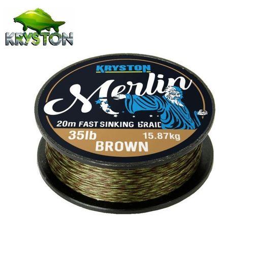 KRYSTON MERLIN FAST SINKING BRAID BROWN 35 LBRS