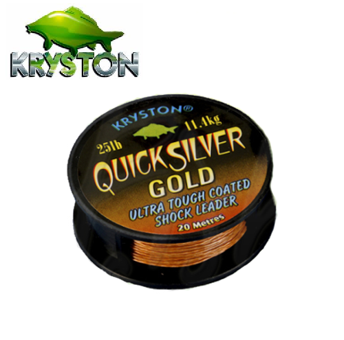 KRYSTON QUICKSILVER GOLD COATED SHOCK LEADER BROWN 25 LBRS