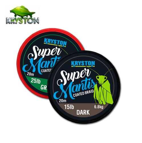 KRYSTON SUPER MANTIS COATED BRAID BROWN 15 LBRS