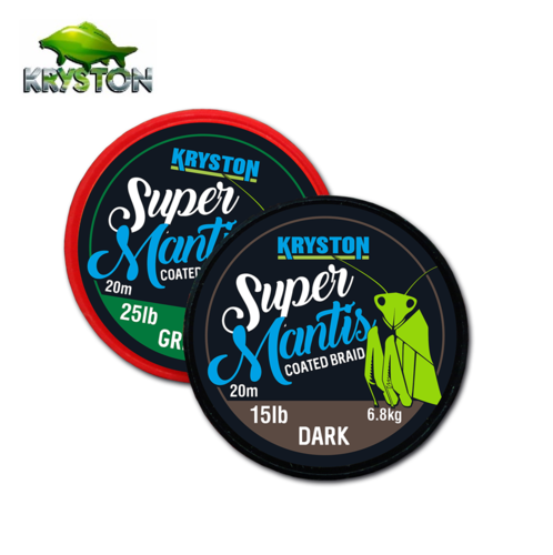 KRYSTON SUPER MANTIS COATED BRAID BROWN 35 LBRS