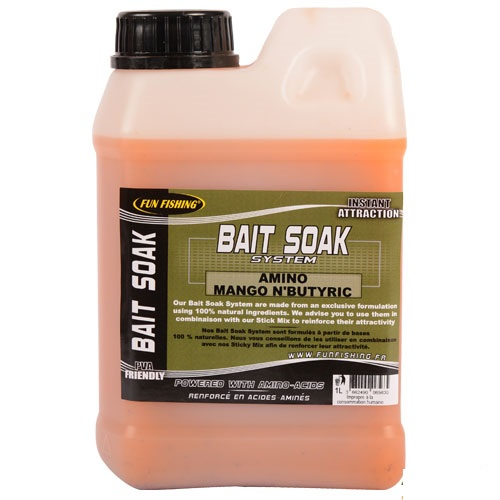 FUN FISHING BAIT SOAK AMINO MANGO N´BUTYRIC 1 L EL CARPODROMO