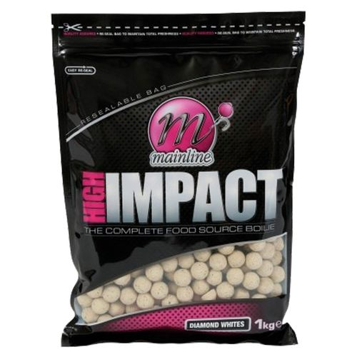 MAINLINE HIGH IMPACT BOILIES DIAMONT WHITES 20mm 1Kg
