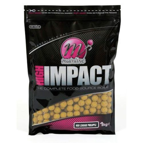 MAINLINE HIGH IMPACT BOILIES PINEAPPLE 20mm 1Kg