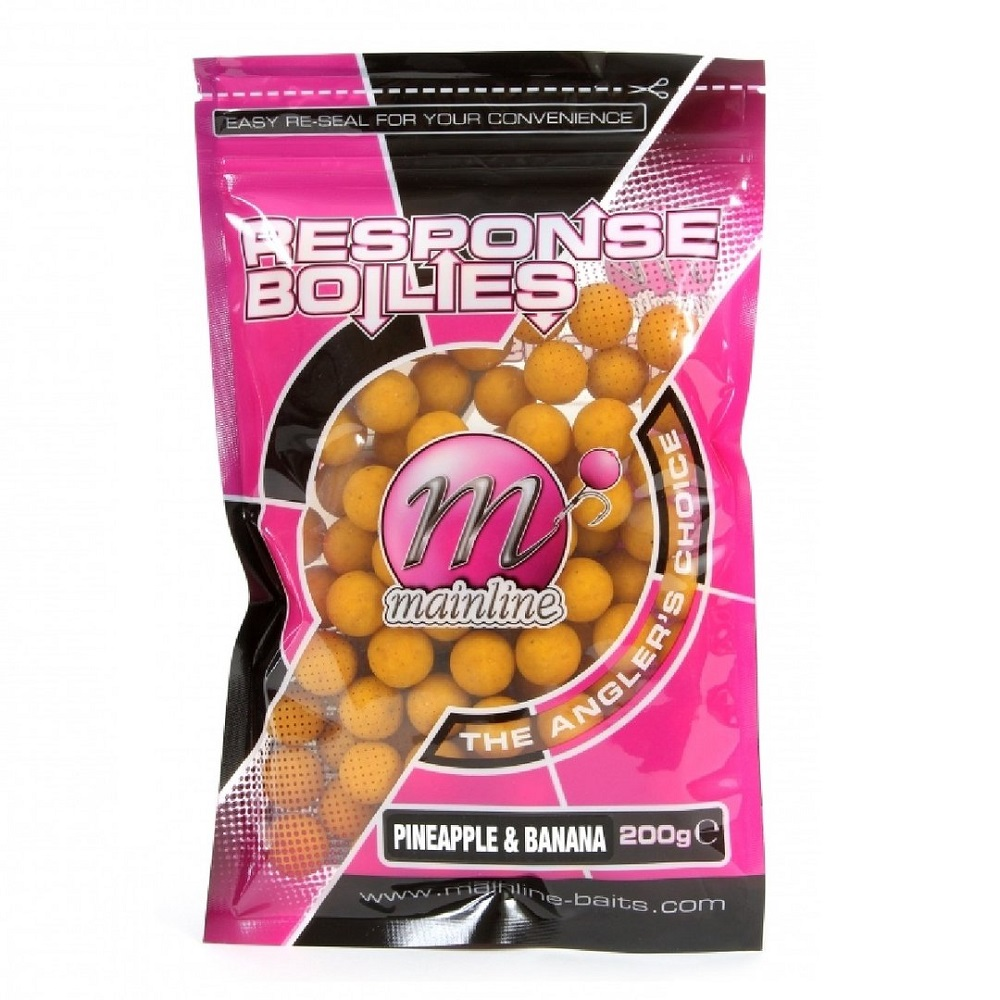 MAINLINE RESPONSE BOILIES PINEAPPLE BANANA 15mm 500g EL CARPODROMO