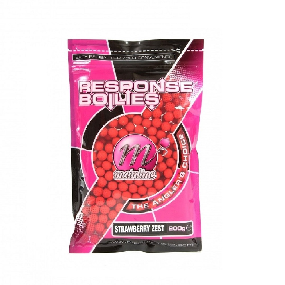 MAINLINE RESPONSE BOILIES STRAWBERRY ZEST 10mm 200 g EL CARPODROMO