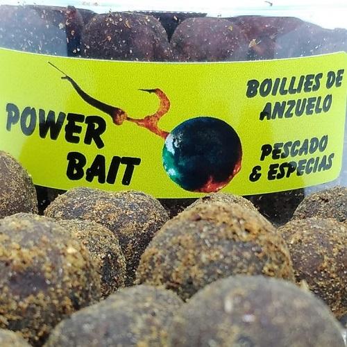 POWER BAIT BOILIES DE ANZUELO PESCADO ESPECIAS