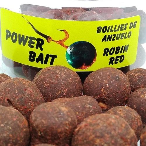 POWER BAIT BOILIES DE ANZUELO ROBIN RED