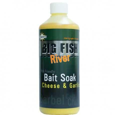 dynamite baits big fish river bait soak cheese garlic 500ml 1