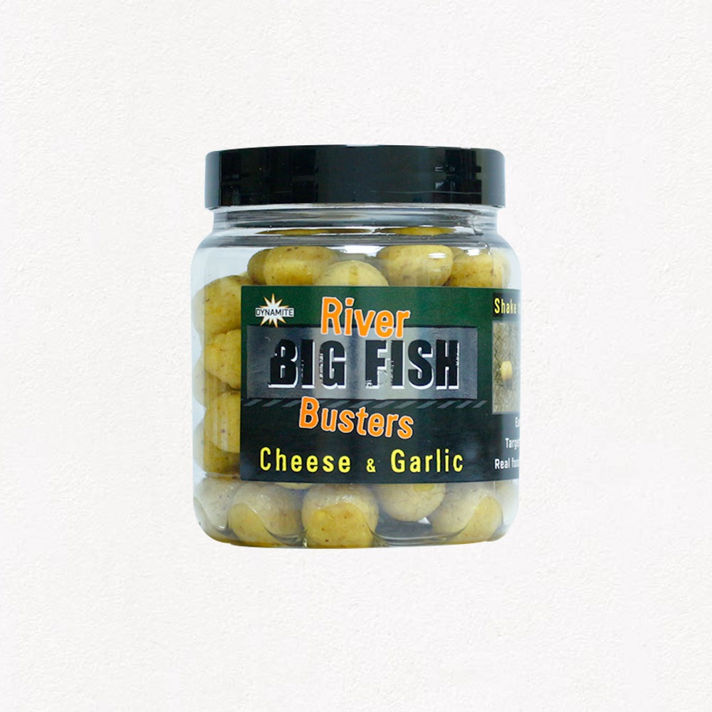 DYNAMITE BAITS RIVER BIG FISH BUSTERS CHEESE GARLIC EL CARPODROMO