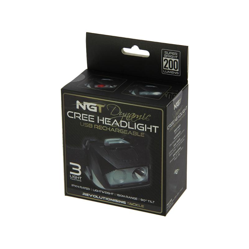 NGT DYNAMIC CREE HEADDLIGHT USB RECHARGEABLE EL CARPODROMO 3