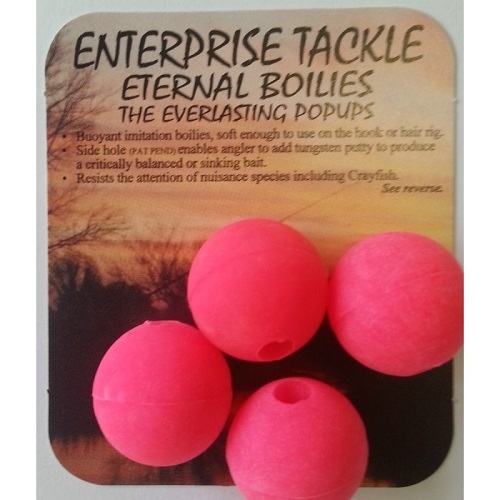 ENTERPRISE TACKLE ETERNAL BOILIES FLUORO PINK ROSA 20 MM