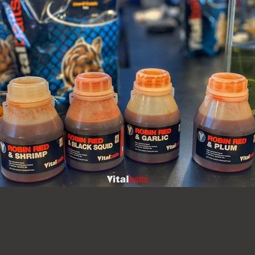 VITALBAITS DIPS ROBIN RED BLACK SQUID 250 ML