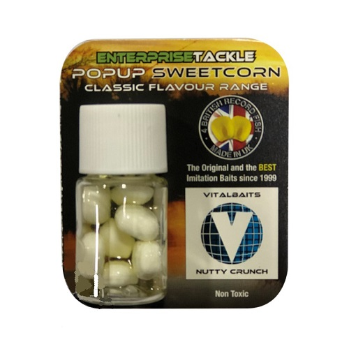 ENTERPRISE TACKLE POPUP SWEETCORN CLASSIC FLAVOUR RANGE NUTTY CRUNCH EL CARPODROMO