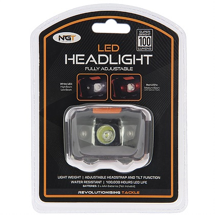 NGT FLED HEADLIGHT WITH WHITE AND RED LIGHT 100 LUMENS EL CARPODROMO 3