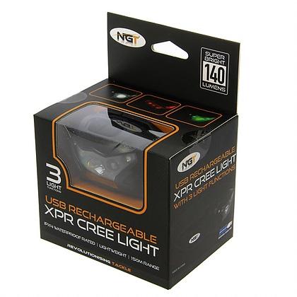 NGT XPR CREE HEADLAMP USB RECHARGABLE 140 LUMENS EL CARPODROMO 3