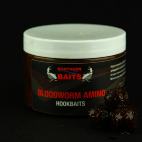 NORTHERN BAITS BLOODWORM DAY SESSION HOOKBAITS BARREL SHAPE 12X14 MM EL CARPODROMO