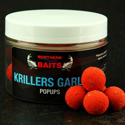 NORTHERN BAITS KRILLER GARLIC PERFECT POPUPS WASHED OUT RED 15 MM EL CARPODROMO