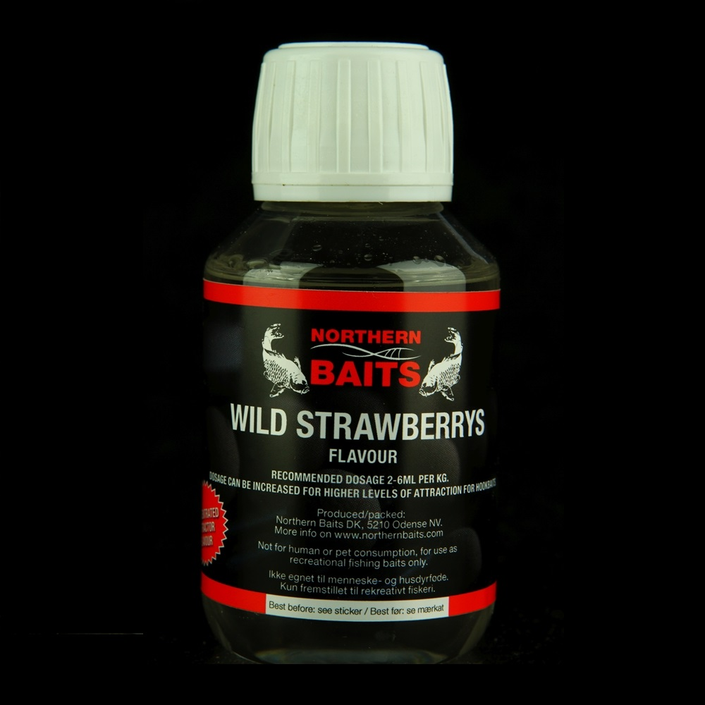NORTHERN BAITS WILD STRAWBERRIES FLAVOURS 100 ML EL CARPODROMO