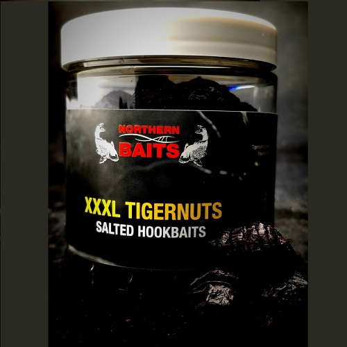 NORTHERN BAITS XXXL BLACK TIGERNUT KRILLER GARLIC HOOKBAITS