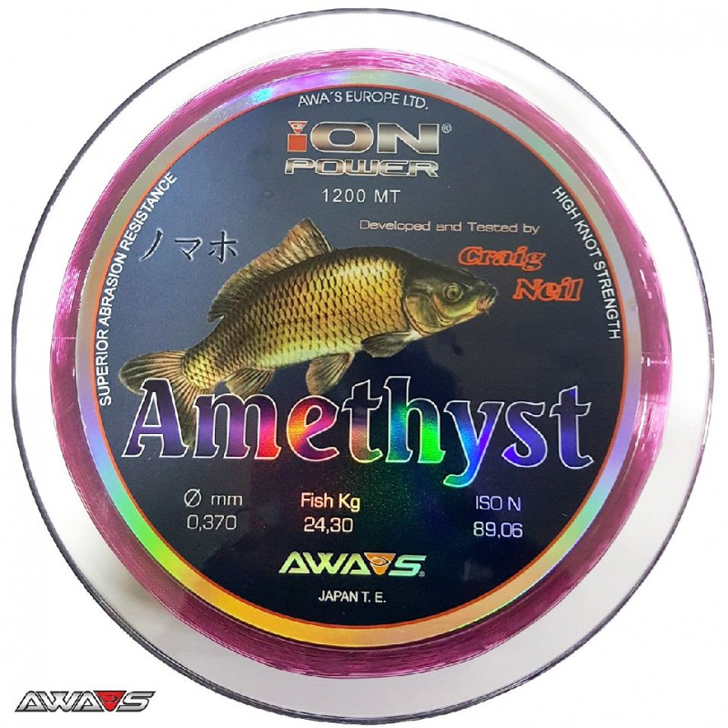 awa shima ion power amethyst purple 0 37mm 24 30kg 1200m
