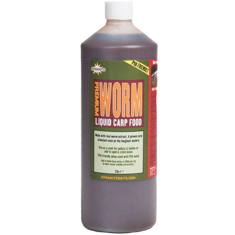 dynamite baits premium worm liquid carp food 1ltr