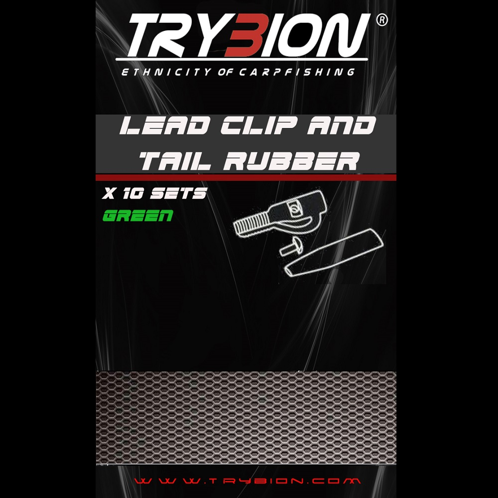 TRYBION SAFETY LEAD CLIP AND TAIL RUBBER GREEN