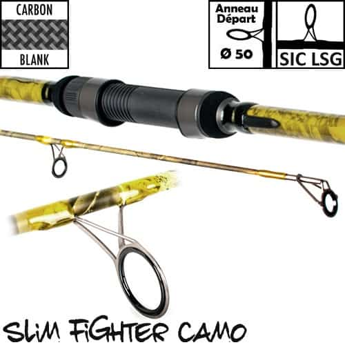 CARP DESIGN CAÑA SLIM FIGHTER CAMO 50MM 13' 5LBS